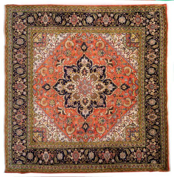 Tappeto Persiano Tabriz 233x246cm visione dall'alto