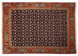 Tappeto Persiano Tabriz 196x140cm visione dall'alto