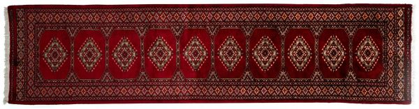 Tappeto Passatoia Pakistan Bukhara 304x75cm visione dall'alto