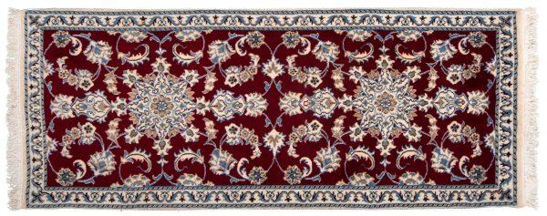Tappeto Passatoia Persiano Nain 190x78cm visione dall'alto