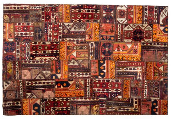Tappeto Turchia Patchwork 300x200 visione dall'alto