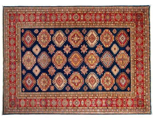 Tappeto Afgano Kazak 288x213cm visione dall'alto