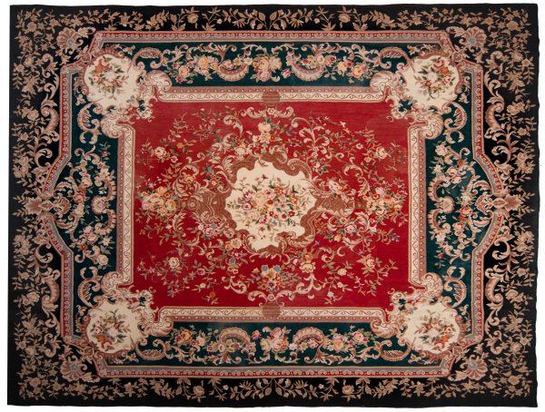 Tappeto Cinese Aubousson 310x233cm visione dall'alto