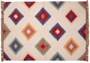 Tappeto Indiano Kilim 181x125cm visione dall'alto