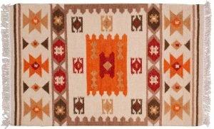 Tappeto Indiano Kilim 128x78cm visione dall'alto