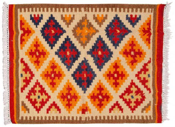 Tappeto Indiano Kilim 151x97cm visione dall'alto