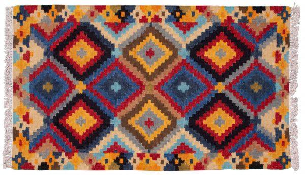 Tappeto Indiano Kilim 156x92cm visione dall'alto