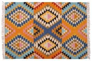 Kilim tappeto indiano 180x126cm visione frontale