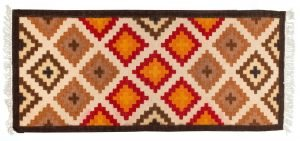 Tappeto Indiano Kilim 181x80cm visione dall'alto