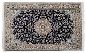 Tappeto Iran Nain persiano 182x113cm vista dall'alto