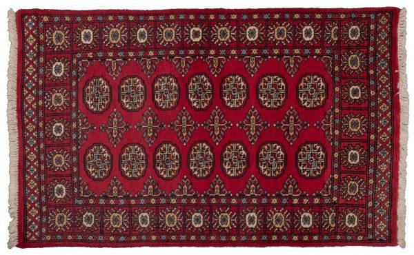 Tappeto Pakistano Mori Bukhara 149x91 cm visione dall'alto