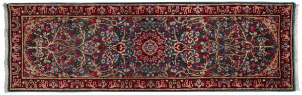 Tappeto Passatoia Persiano Kerman 233x73cm visione dall'alto