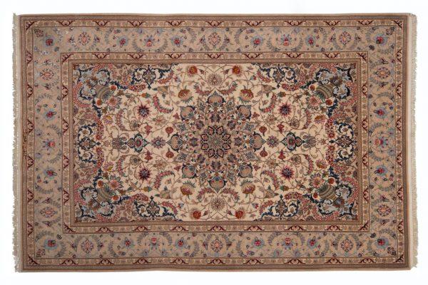 Isfahan Tappeto Persiano 226x153cm visione dall'alto