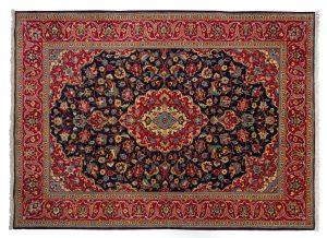 Tappeto Persiano Kashan 230x170cm visione dall'alto