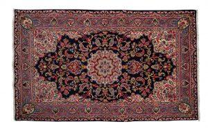 Tappeto Persiano Kerman 243x149cm visione dall'alto