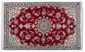 Tappeto Persiano Nain 140x88cm vista dell'alto