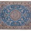 Tappeto Persiano Nain azzurro 143x100cm visione dall'alto