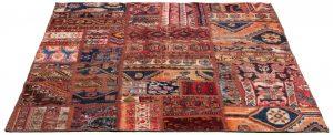 Tappeto Persiano Patchwork 170x138 cm Prospettiva