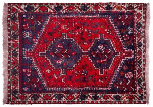 Tappeto Persiano Shiraz 143x107cm visione dall'alto