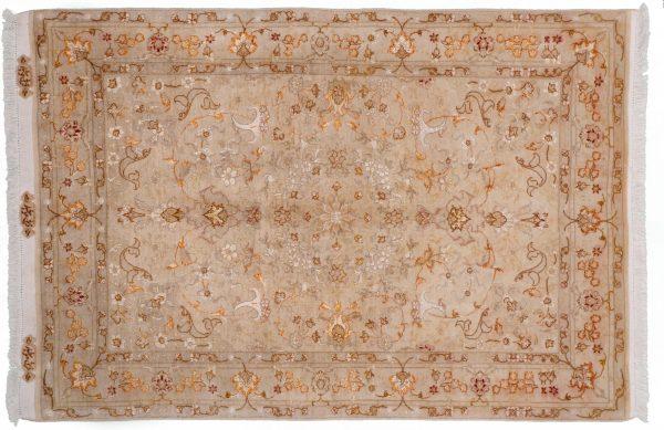 Tappeto Persiano Tabriz 152x102cm visione dall'alto