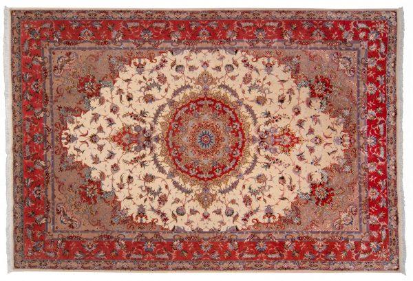 Tappeto Persiano Tabriz 60 raj 302x205cm visione dall'alto