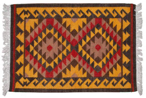 Tappeto Indiano Kilim 119x82cm visione dall'alto