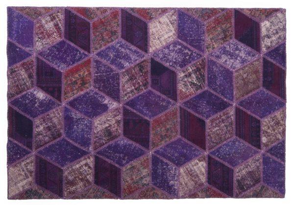 Tappeto Anatolico Patchwork 243x166 motivo geometrico visione dall'alto