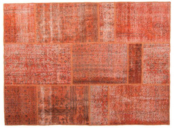 Tappeto Anatolico Patchwork 208X157 visione dall'alto