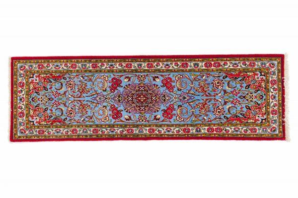 Tappeto Persiano Kum Kurk. 175X55 visione dall'alto