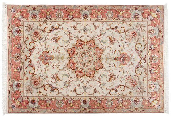 Tappeto Persiano Tabriz. 150X105cm visione dall'alto