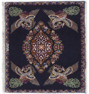 Tappeto Persiano Kashan. 100X90 visione dall'alto