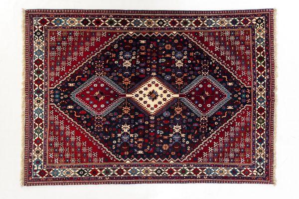 Tappeto Persiano Yalameh. 205X153 visione dall'alto