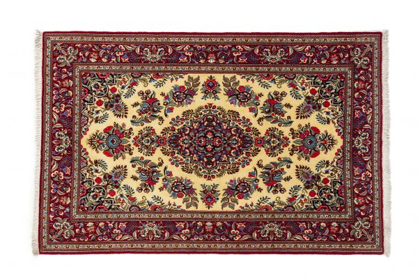 Tappeto Persiano Kum Kurk. 218X150 visione dall'alto