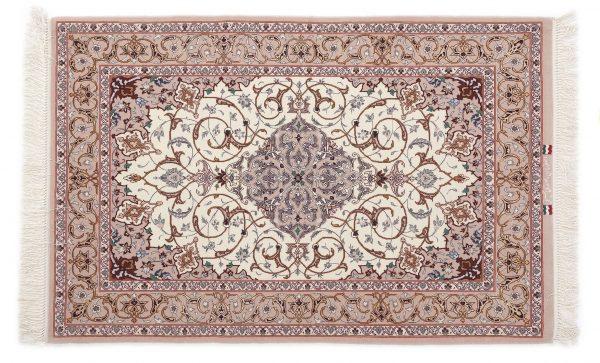 Tappeto Persiano Esfahan. 128X82 visione dall'alto