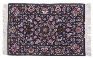 Tappeto Isfahan persiano 122X83 visione dall'alto