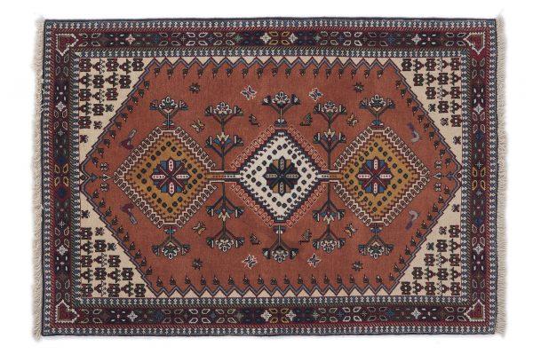 Tappeto Persiano Yalameh. 144X100 visione dall'alto