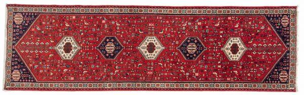 Tappeto Persiano Abadeh. 298X84 visione dall'alto
