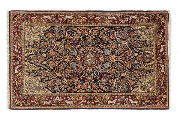 Tappeto Persiano Kashan. 208x128 visione dall'alto