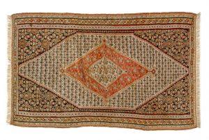 Tappeto Persiano Kilim Senneh. 196x120 visione dall'alto