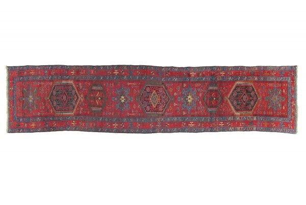 Tappeto Persiano Garageh. 520X110 visione dall'alto