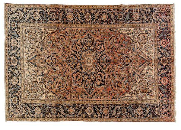 Tappeto Persiano Heritz. 342x235 visione dall'alto