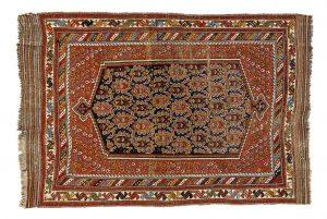 Tappeto Persiano Asfhar. 178X120 visione dall'alto