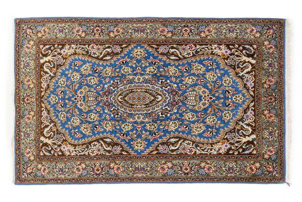 Tappeto Persiano Kum. 211X140 visione dall'alto