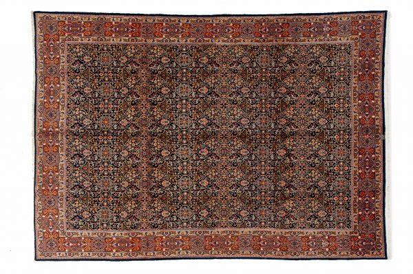 Tappeto Persiano Yazd. 364x256cm visione dall'alto