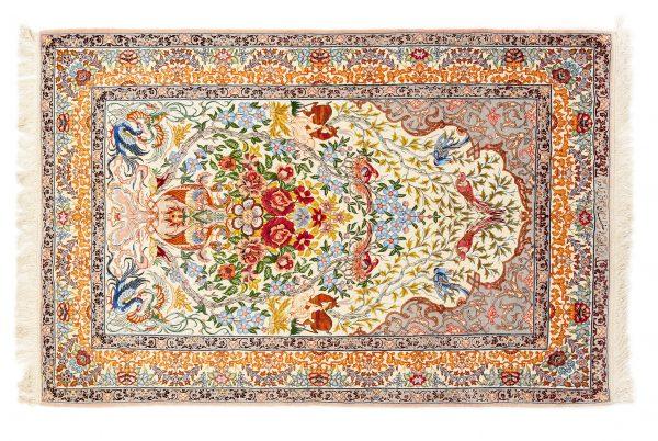 Tappeto Persiano Esfahan. 172X115 visione dall'alto