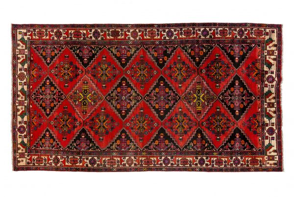 Tappeto Persiano Hamadan. 300X168 visione dall'alto