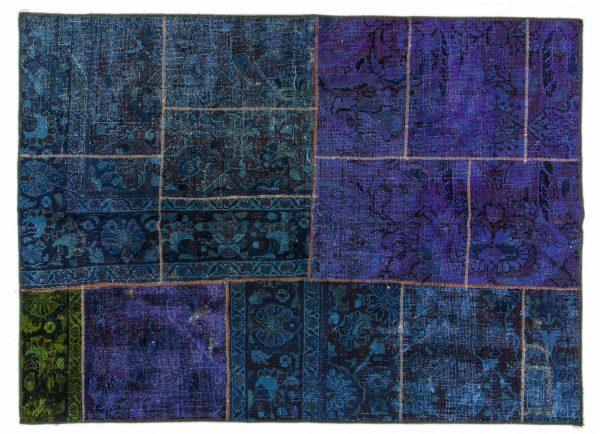 Tappeto Persiano Patchwork.195X142 visione dall'alto