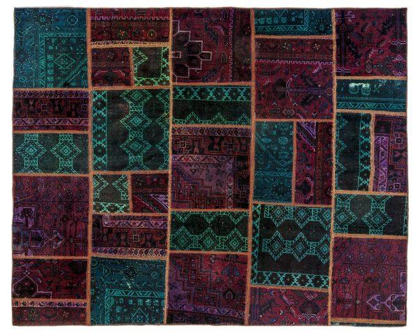 Tappeto Persiano Patchwork. 235X193 visione dall'alto