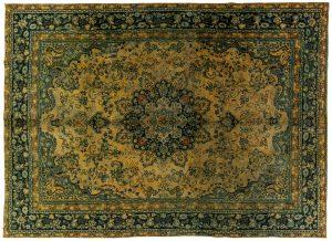 Tappeto Persiano Vintage. 379x275cm visione dall'alto