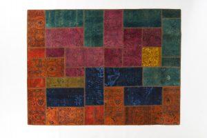 Tappeto Persiano Patchwork. 243X182 visione dall'alto